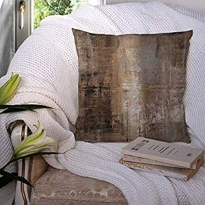 """Contemporary Brown+Gray 18x18"""" Throw Pillow Covers"""